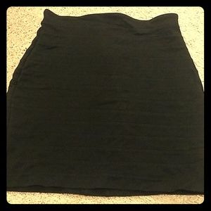 Express black bandage short skirt